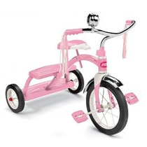 Radio Flyer Girls Classic Doble Rosa Cubierta Triciclo