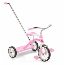 Triciclo Radio Flyer Classic Trike With Push Handle, Pink