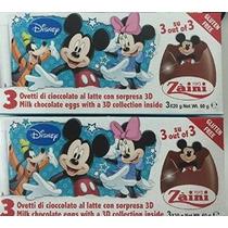 2 Cajas (6) Huevos Disney Pixar Mickey Mouse Sorpresa De Cho