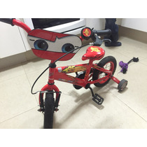 Bicicleta Turbo Rodada 12 Disney Cars Rayo Mcqueen