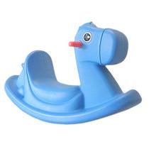 Mecedora Montable Pony Color Azul Para Niños De 1 A 4 Años