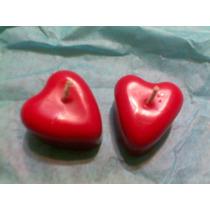 10 Velas De Corazón Para Recuerdos Boda O 14 De Febrero Op4