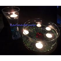 60 Velas Tealight Blanca Sin Aroma Flotantes Centros De Mesa