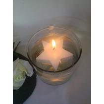 Vela Flotante Estrella 6cm Bodas Recuerdos10 Piezas $60