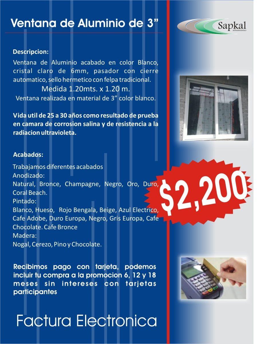 Ventana de aluminio blanco 3 1 en mercadolibre for Ver ventanas de aluminio blanco