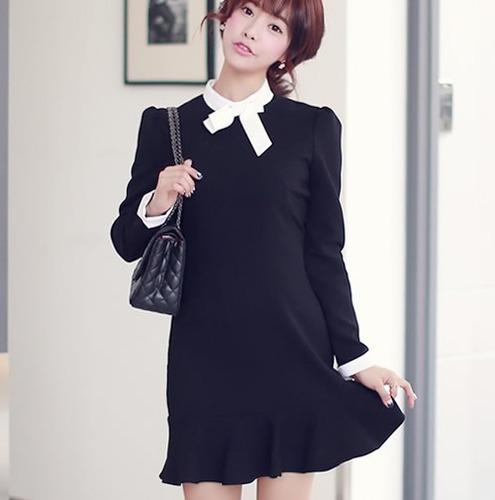 Vestido Corto Formal Elegante Moda Coreana Juvenil 2195 - $ 790.00 ...