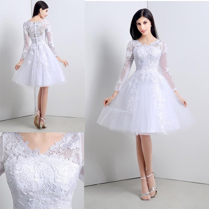 Boda civil vestidos vestidos de novia cortos vestido for Boda en jardin vestidos