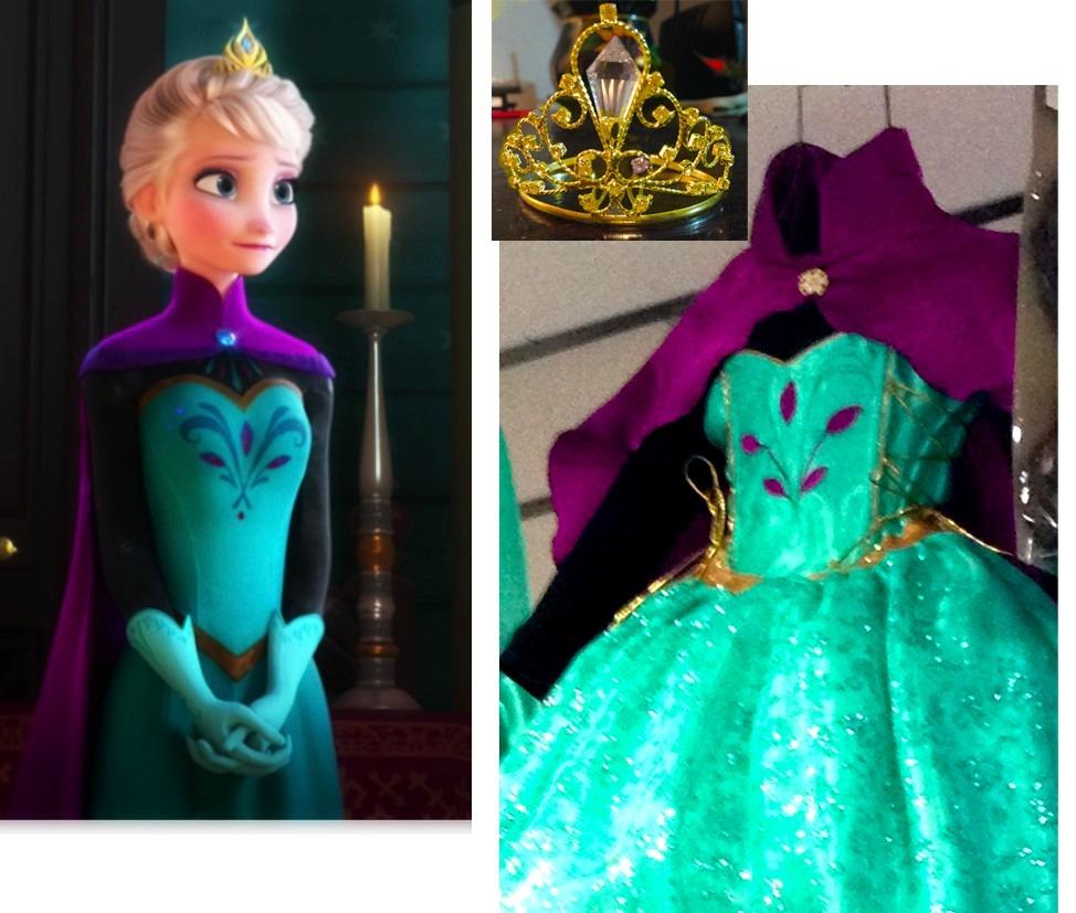 Vestido elsa y anna frozen disney princesas 550 00 en mercadolibre