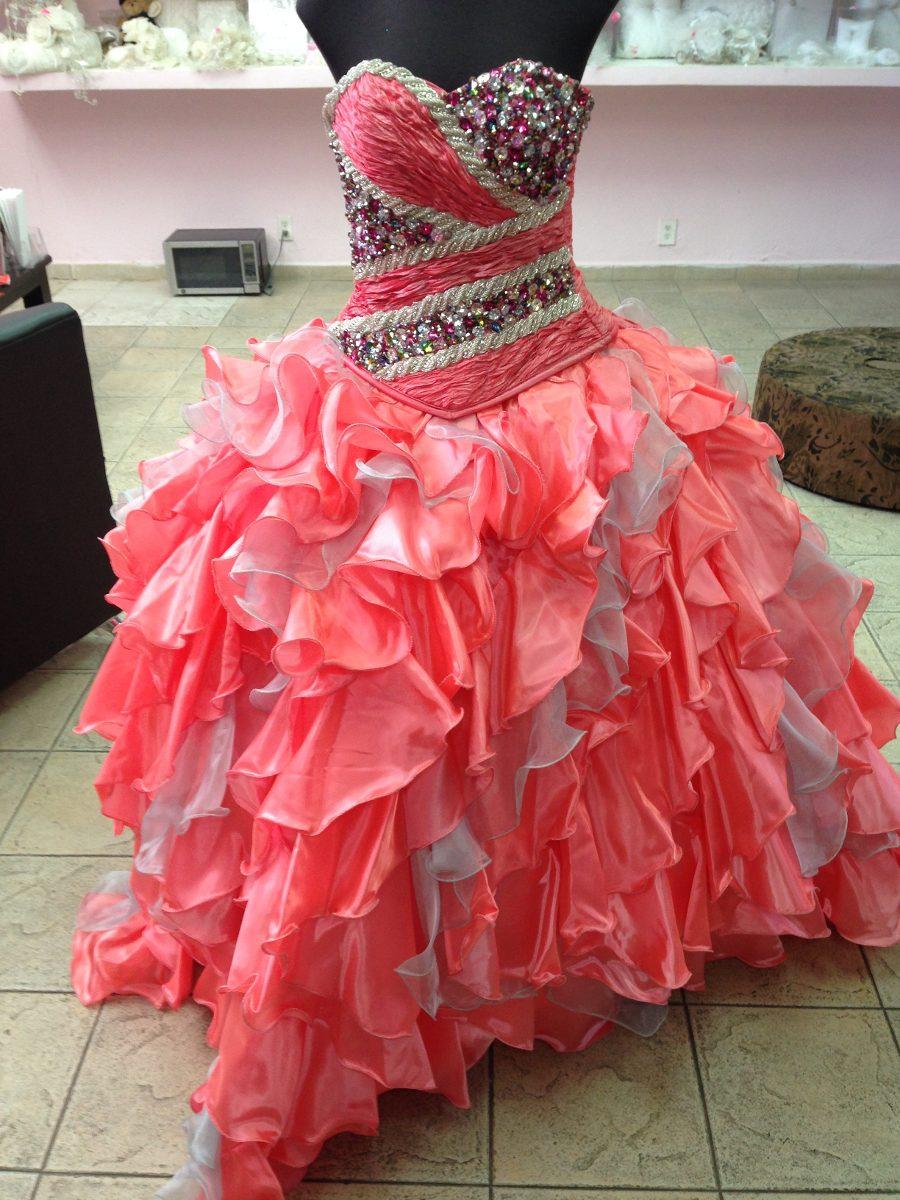 Encantador Vestidos De Dama De Coral Y Plata Componente - Colección ...