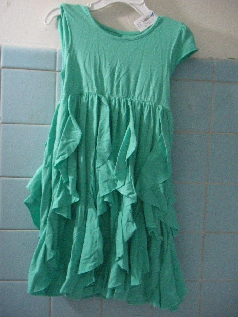 Vestido verde con olanes para ni a talla 3 a os lindo lbf - Ropa nina 3 anos ...