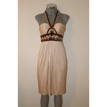 Elegante Vestido Beige Bcbg Maxazria - Rebajado 70%