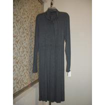 Vestido Gris-plata De Maternidad Liz Claiborne 38-40 Dama
