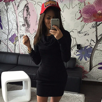 Vestido Mini Corto Hoodie Capucha Fashion Moda Japonesa