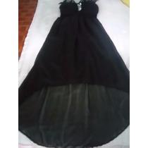 Vestido Negro Elegante Fiesta Unitalla Con Lentejuelas