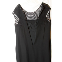 Vestido Fiesta Negro Transparencia Talla 10 Donna Morgan