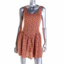 Vestido Corto Talla Grande Color Naranja Marca H.i.p Origina