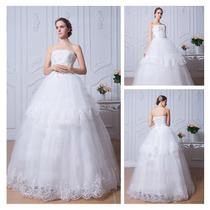 Vestido De Novia Boda De Organza Elegante Hermoso Princesa