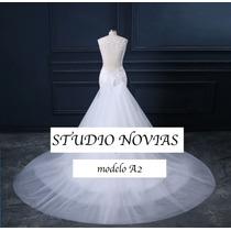 Vestido De Novia Nuevo Barato Modelo A2 Vestido Ivory Blanco