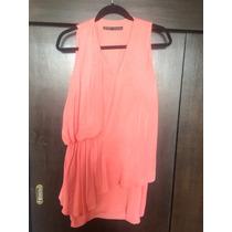 Vestido Coral De Zara (seda)