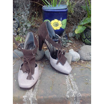 Hermosos Zapatos Vintage Del 25 Mex. Por Limpia De Closet