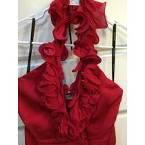 Vestido De Fiesta Marca Bebe Color Rojo