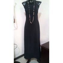 Vestido De Licra Basico Negro Talla 7