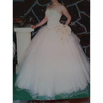 Vestido Beige De Xv Años Talla 28