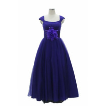 Hermoso Vestido De Noche De Boda De Piesta De Chifon Azul