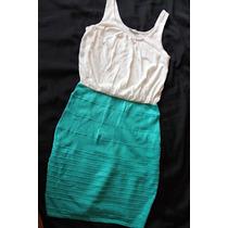 Charlotte Russe Vestido Doble Color Turquesa Talla M