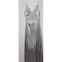 Elegante Vestido Plateado, La Mejor Opción Para Tus Fiesta