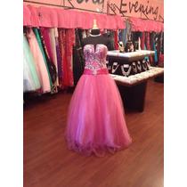 Vestido Fiesta Noche Xv Quince Jovani Talla 2 $530 Dlls