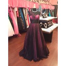 Vestido Fiesta Noche Alta Costura Jovani Talla 10 $510 Dlls