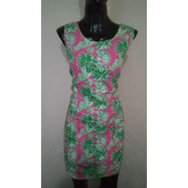 Vestido Con Flores Fiucha Con Verde Talla 8