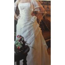 Vestido De Novia Talla 8 (m) Color Ivory