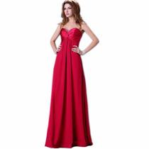 Vestido De Fiesta Rojo, Pedrería Strapple, Boda, Graduación