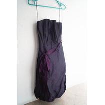 Vestido Corto Strapless Seminuevo Marca Ivonne Color Morado