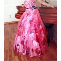 Vestido De Fiesta Seminuevo, Importado.