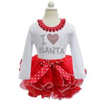 Vestidos Niña Navidad Santa Claus Tallas 1 - 6 Años