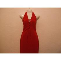 Vestido De Fiesta Rojo Largo Talla Chica