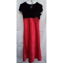 Talla-16 Niña Speechless Vestido Negro Y Rojo Gliter! Vn89