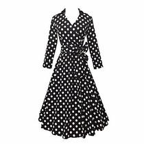 Vestido Pin Up Vintage Negro Con Blanco