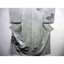 Kimono De Seda Nubes De Los 60s