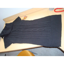 Vestido Negro Tejido Corto L.