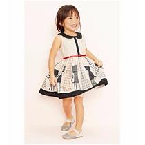 Vestido Con Cinto De Gato Para Niña Promocion Moda Japonesa