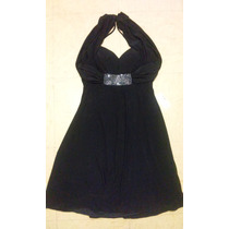 Vestido De Fiesta Negro Dressbarn Collection Talla 8