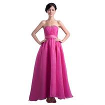 Baituya Vestido De Boda De Noche De Baile Largo Rosa
