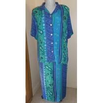 Conjunto 2 Piezas Bluson/ Vestido Talla 4x