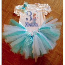 Tut Playera Personalizada Vestido Niña Bebe Frozen Peppa