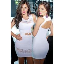 Sexy Vestido Blanco Con Aberturas Y Transparencias Regalo
