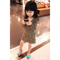 Bonito Vestido Animal Print Niña Promocion Moda Japonesa